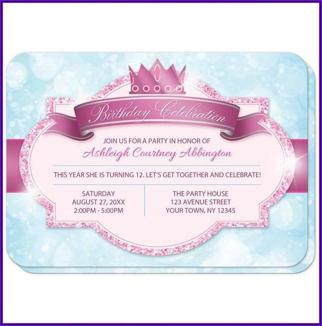 Classy Birthday Invitation Cards