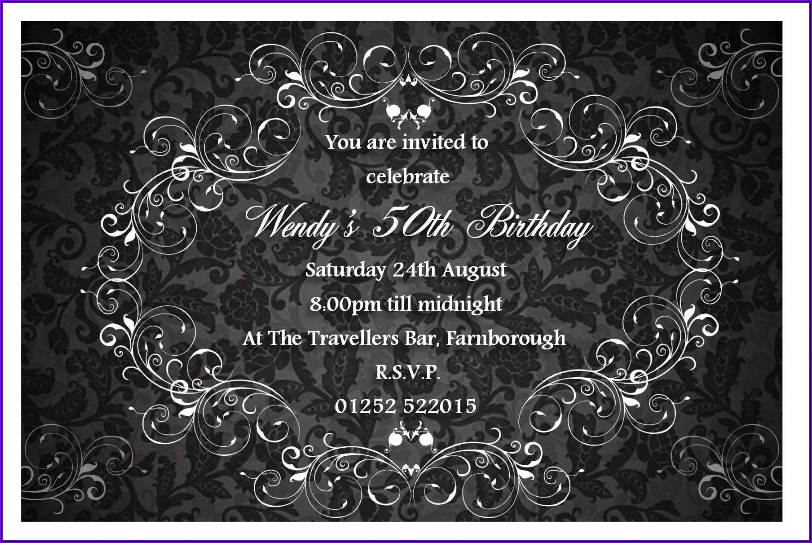 Classy Birthday Invitations Templates