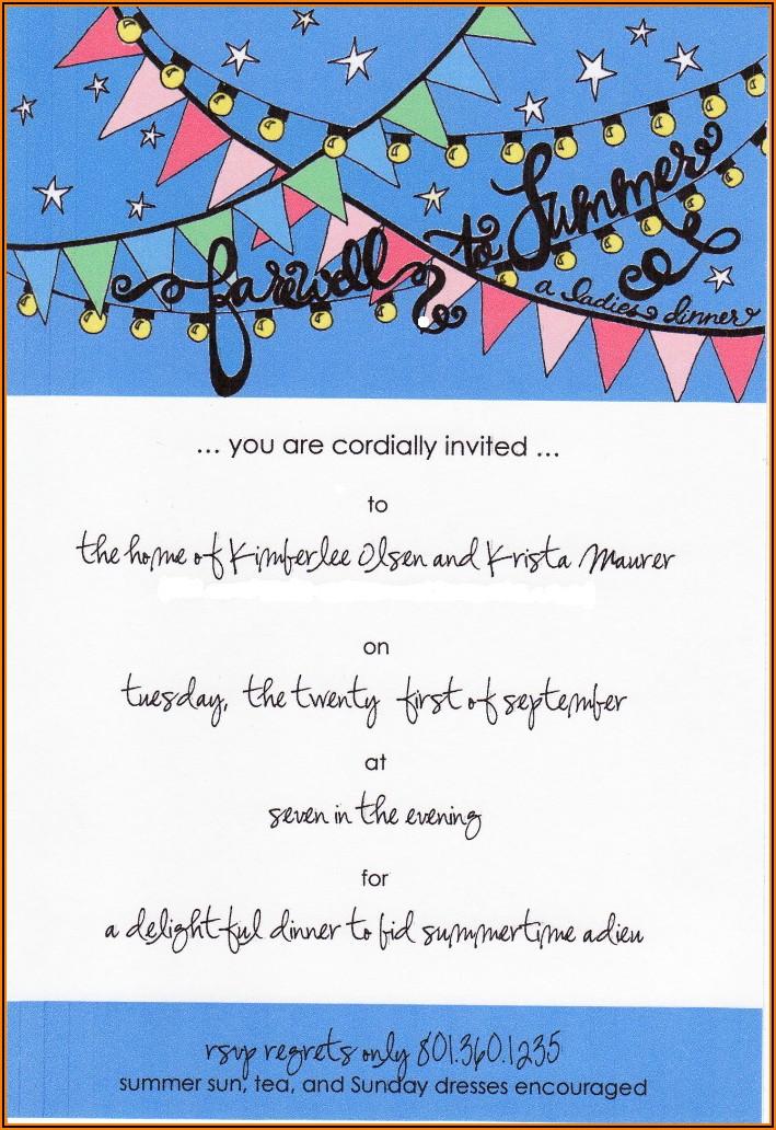 Colleague Farewell Lunch Invitation Wording