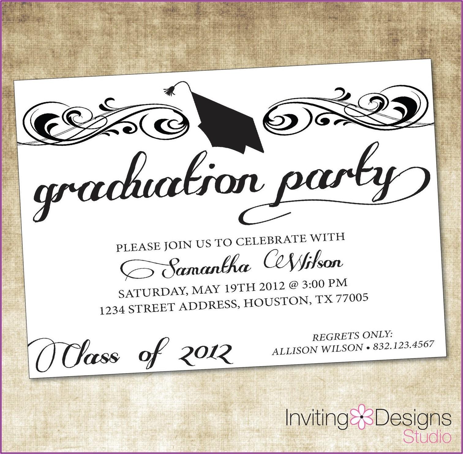 College Graduation Party Announcement Wording