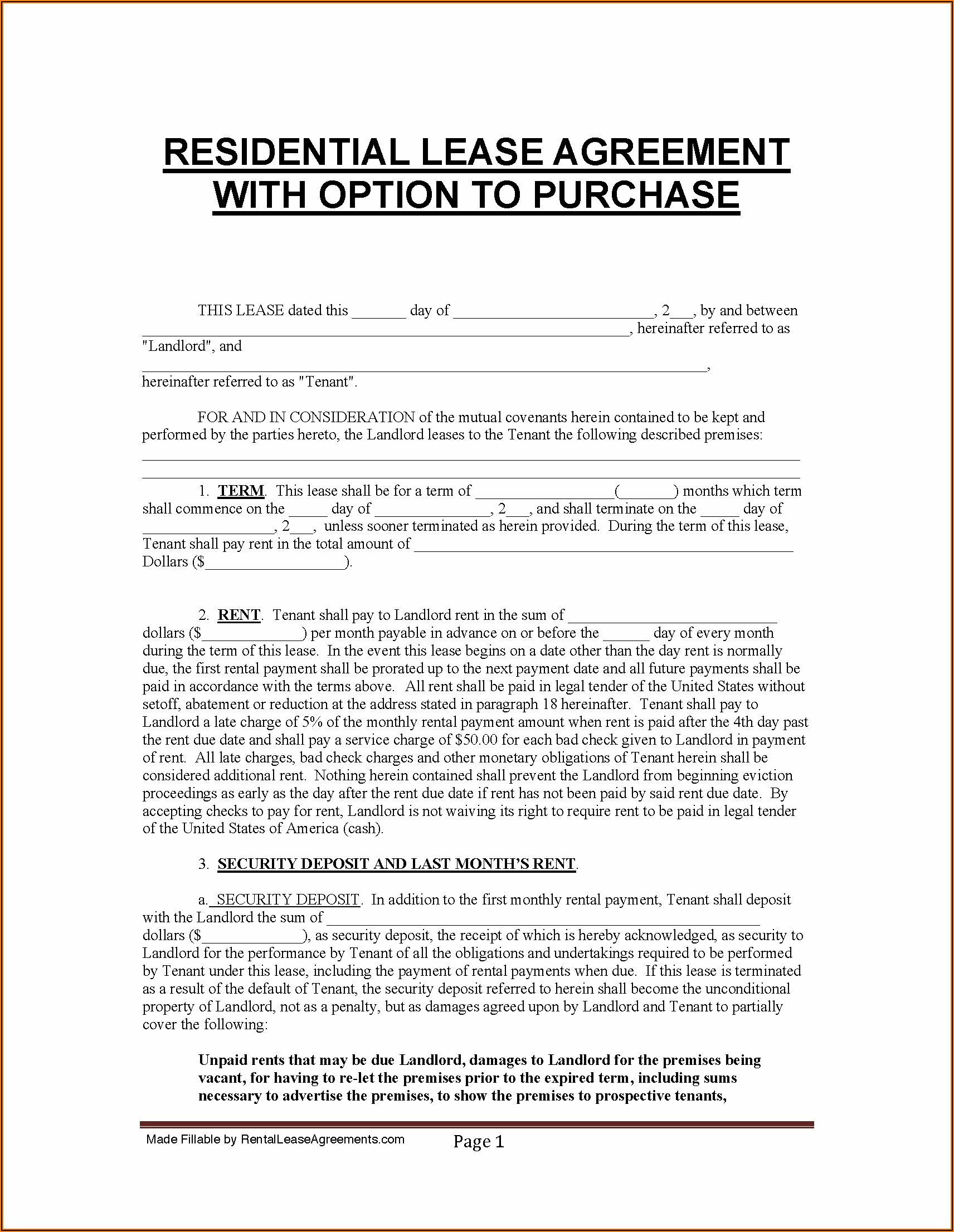 Commercial Sublease Agreement Florida