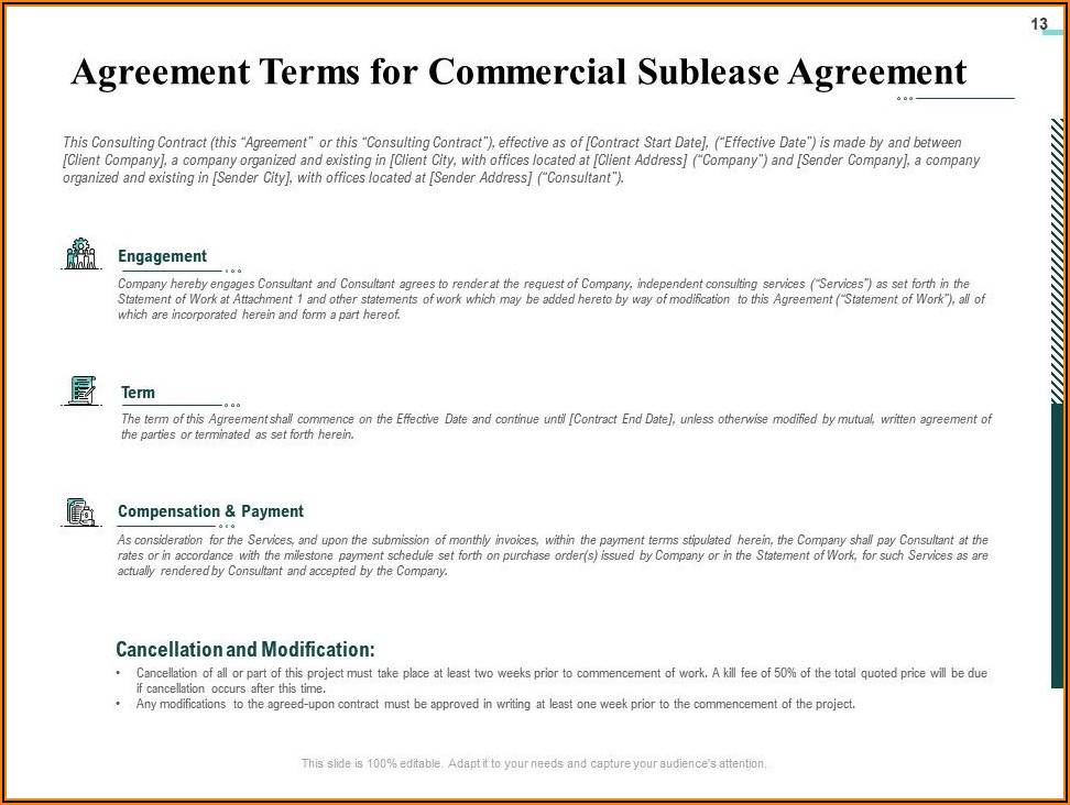 Commercial Sublease Template