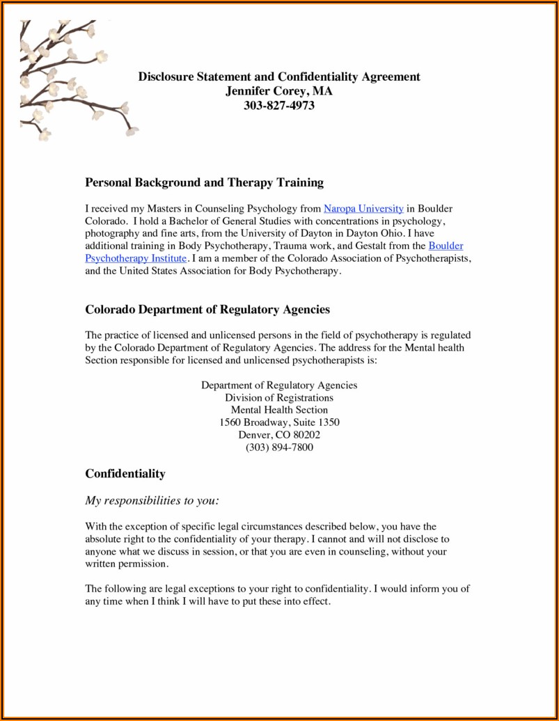 Confidentiality Agreement Free Template