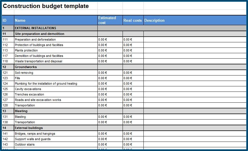 Construction Expense Report Template
