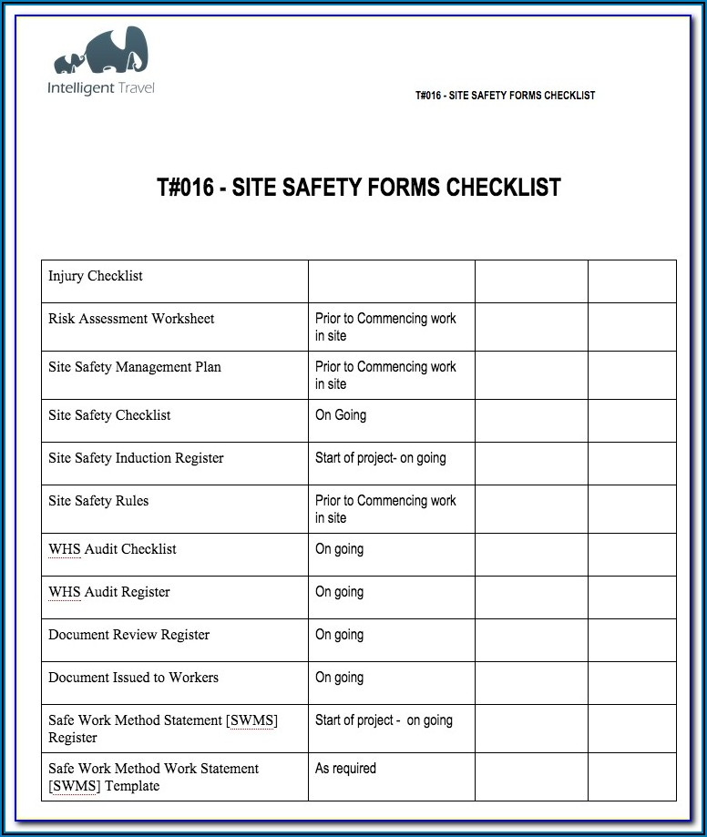 Construction Safety Audit Template