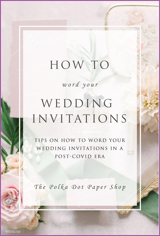Correct Wedding Invitation Wording