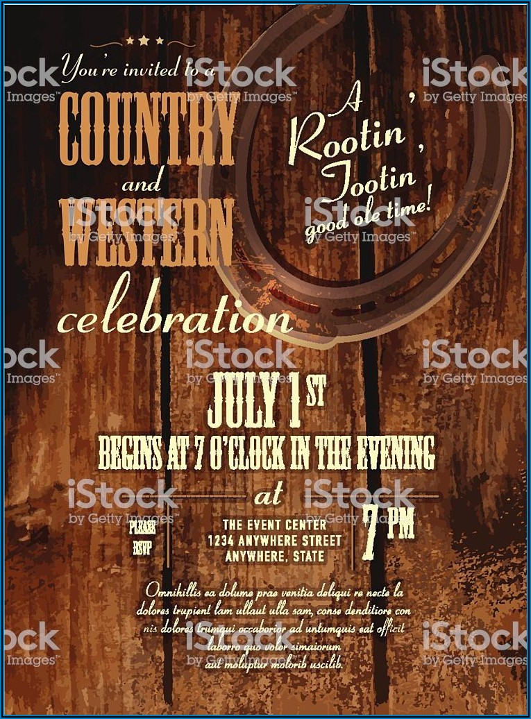 Country And Western Invitation Template