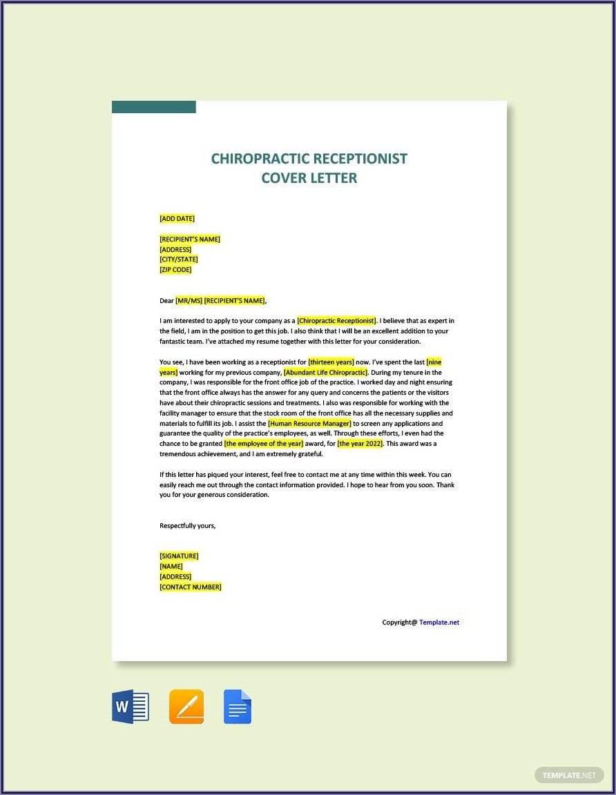 Cover Letter Sample Template Word Free