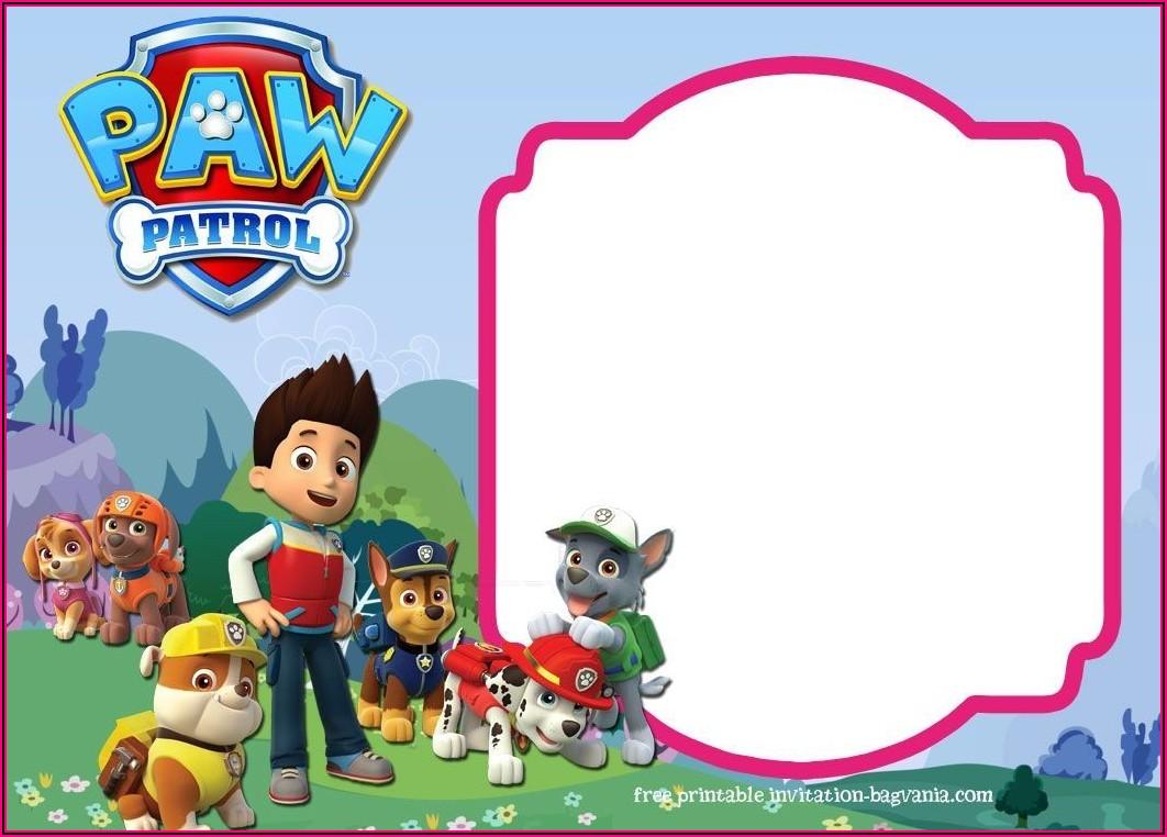 Create Paw Patrol Invitations Online