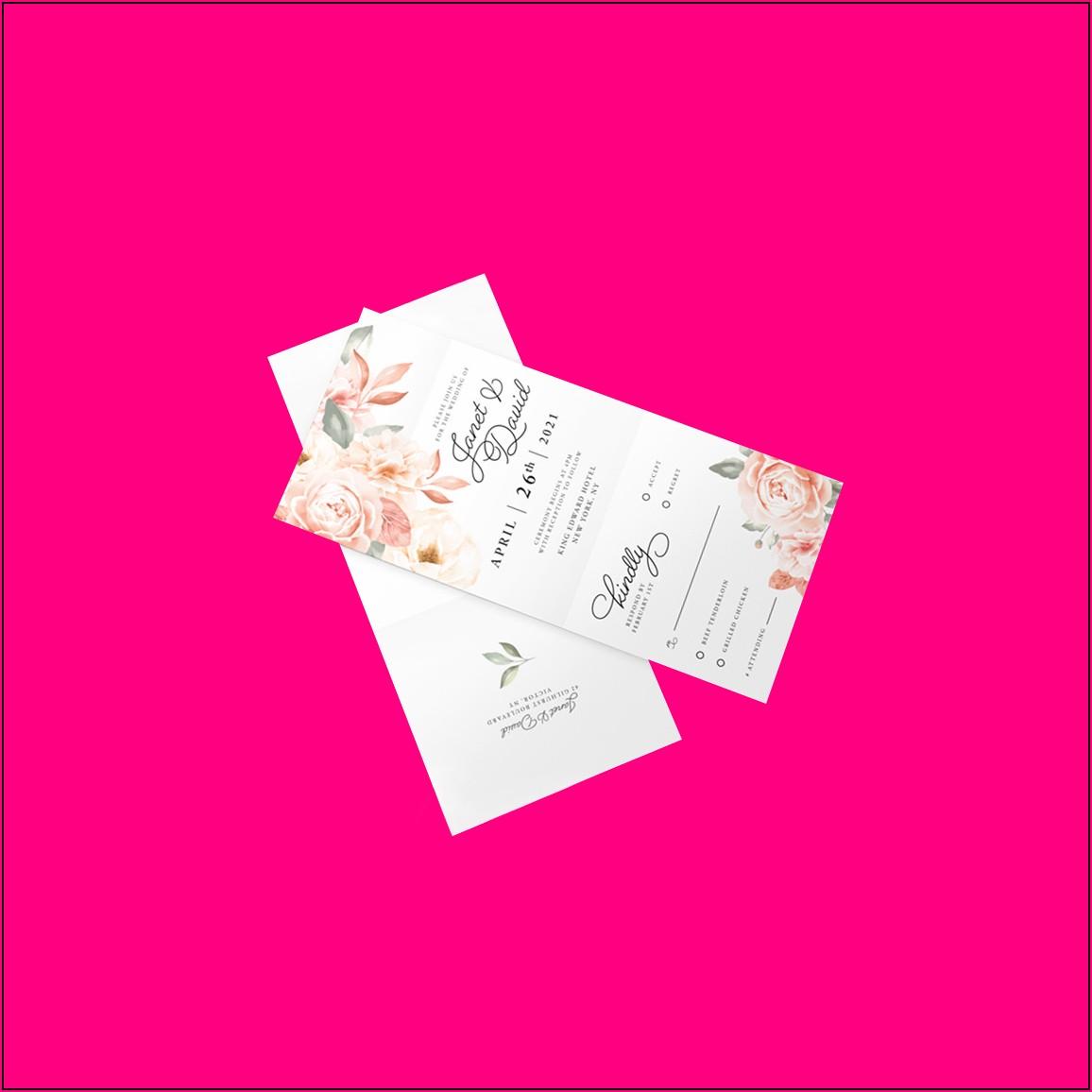 Custom Die Cut Wedding Invitations
