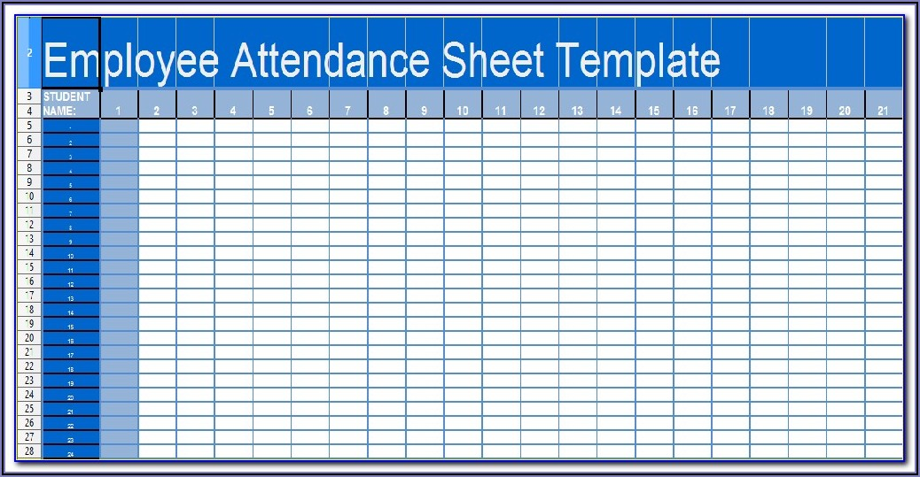 Daily Attendance Sheet Template For Employees