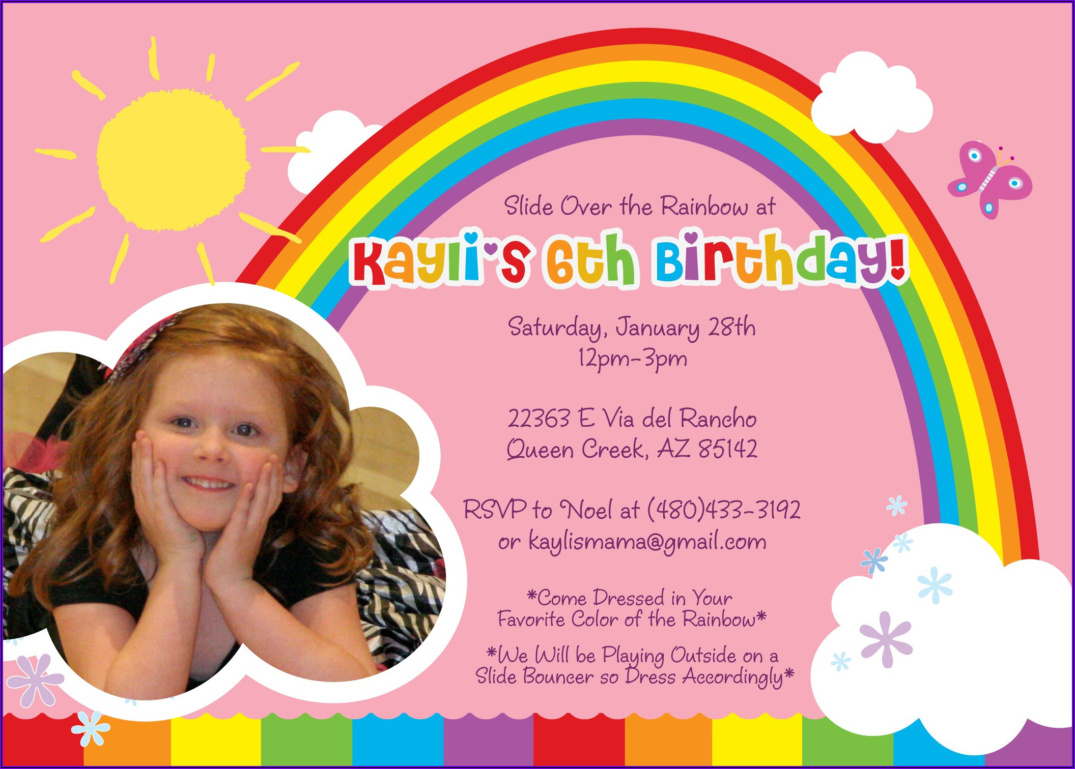 Daughter Birthday Invitation Message In English