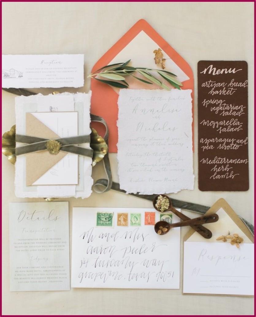 Deckle Edge Wedding Invitation Suite