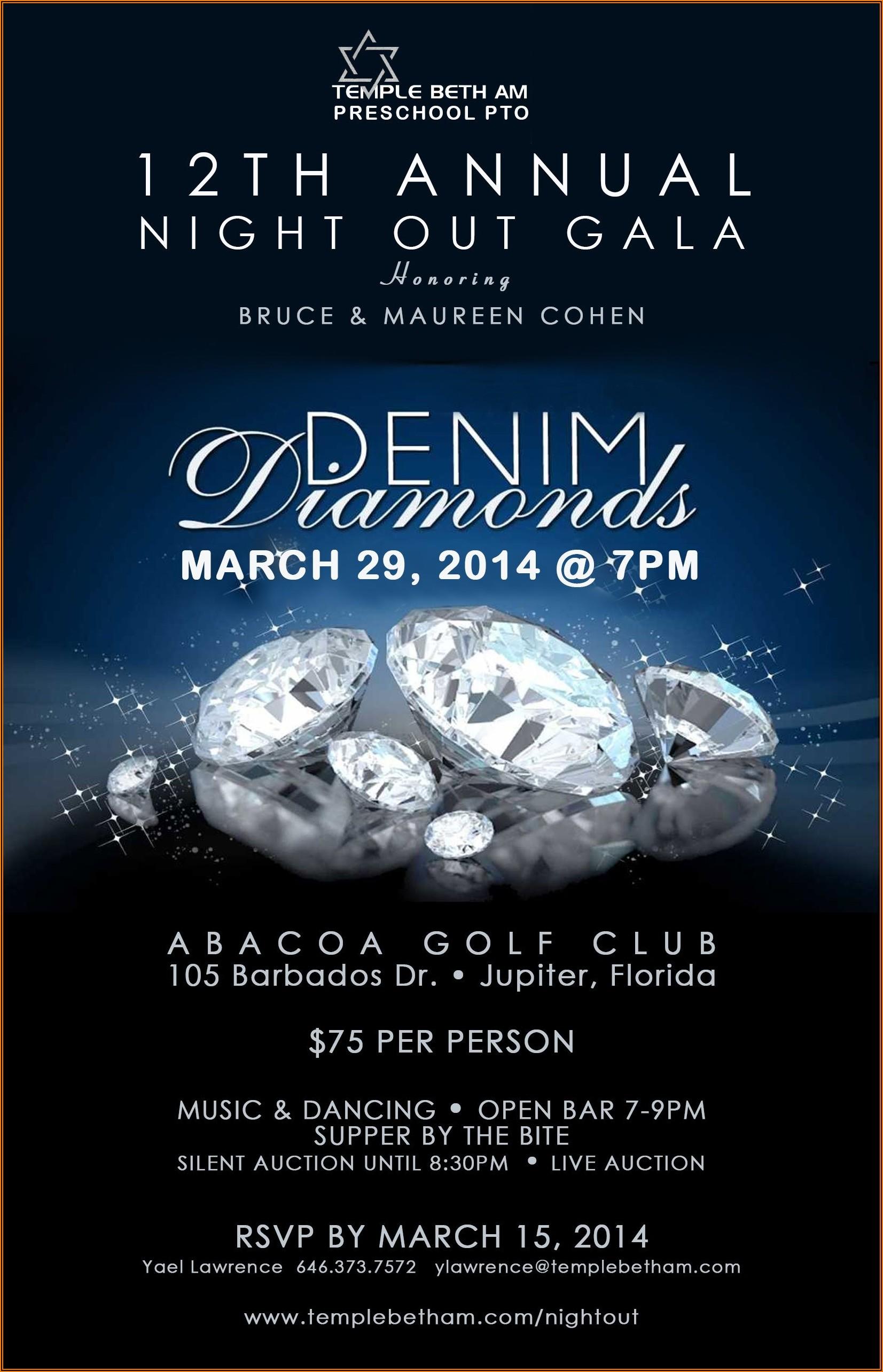 Denim And Diamonds Invitation Wording