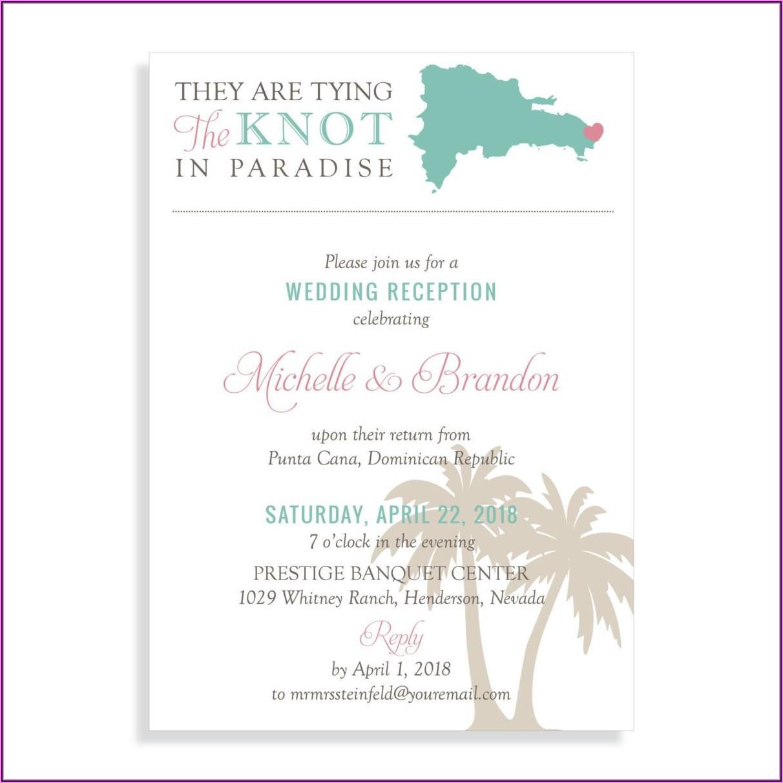 Destination Wedding Invitation Wording For Reception At Home