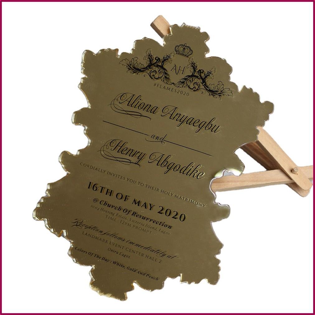 Die Cut Invitation Cards