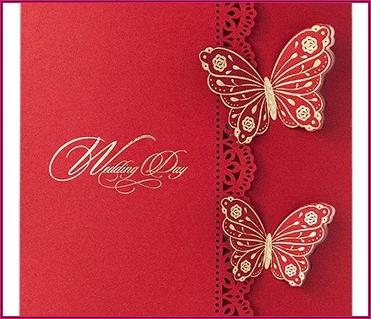 Die Cut Wedding Invitation Templates