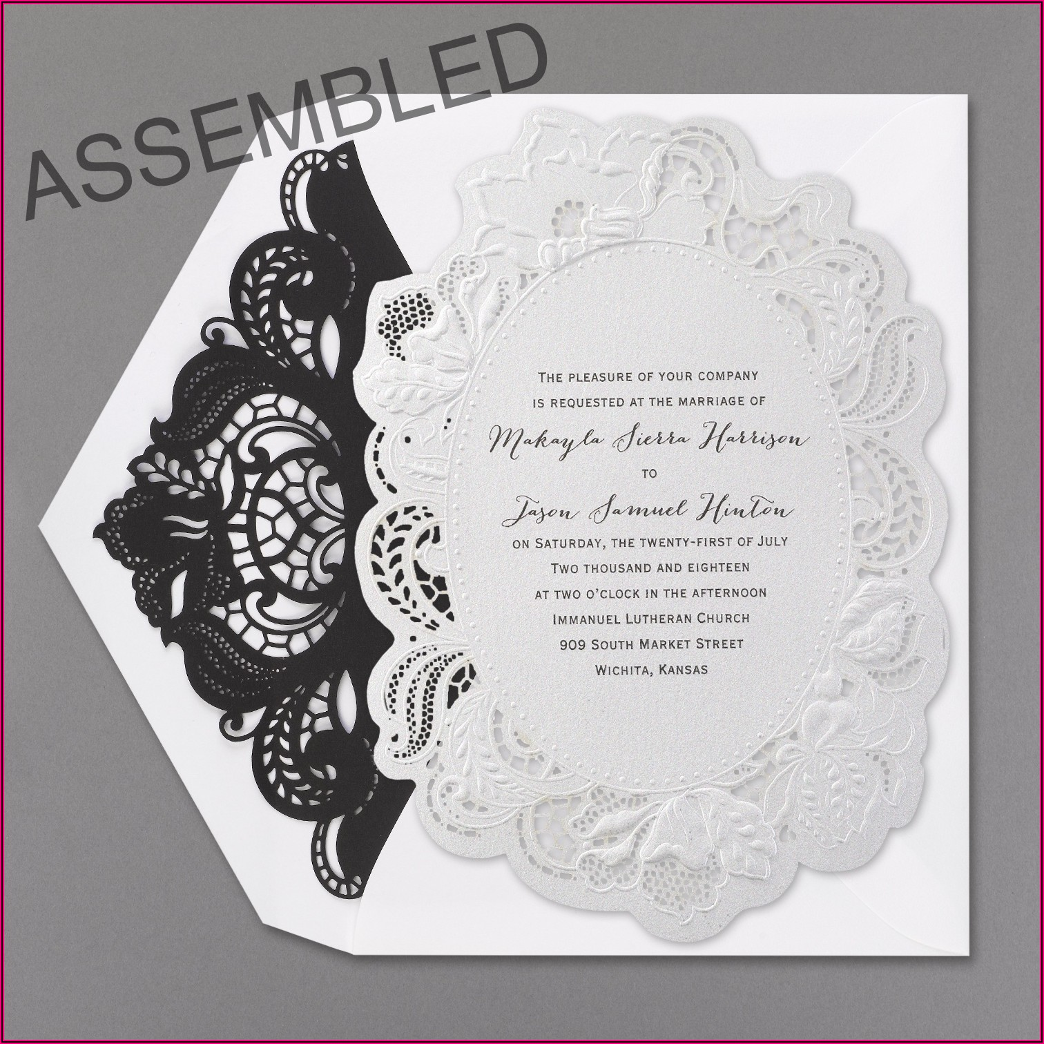 Die Cut Wedding Invitations Diy