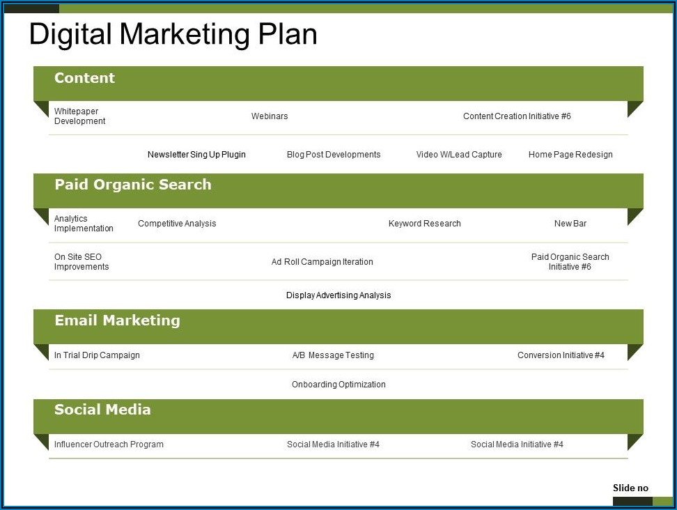 Digital Marketing Campaign Timeline Template