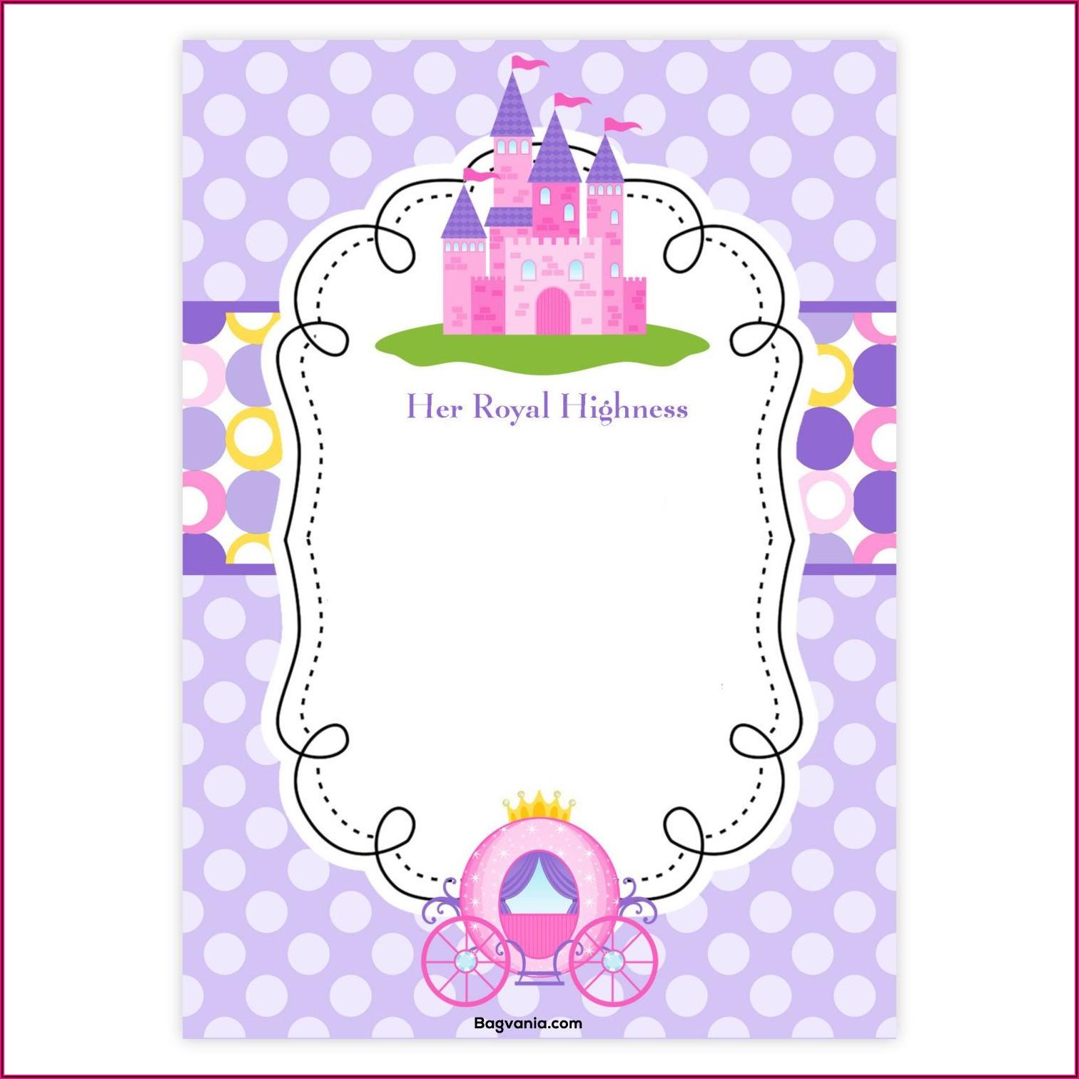 Downloadable Princess Invitation Template Free