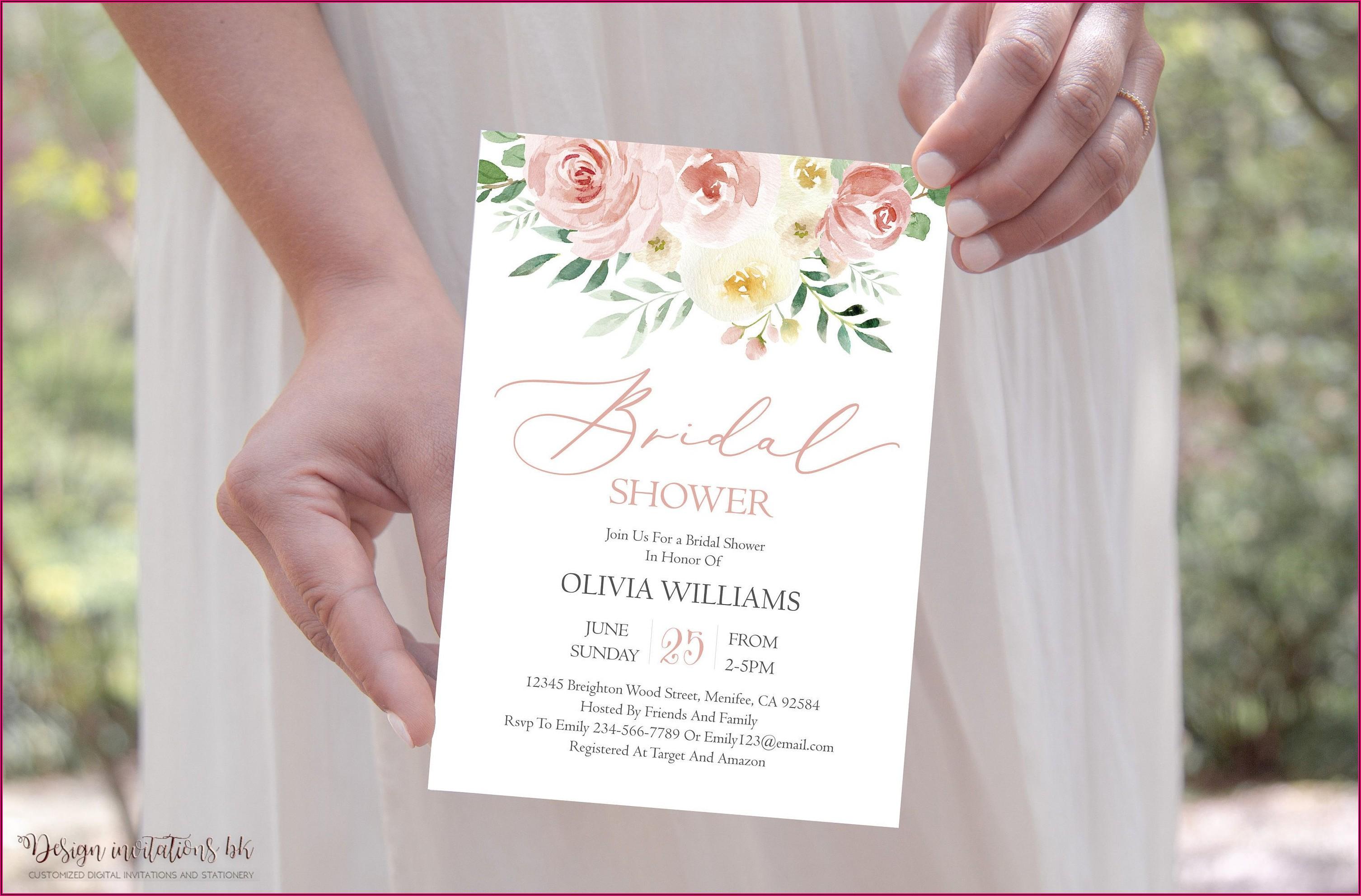 Dusty Rose Bridal Shower Invitations