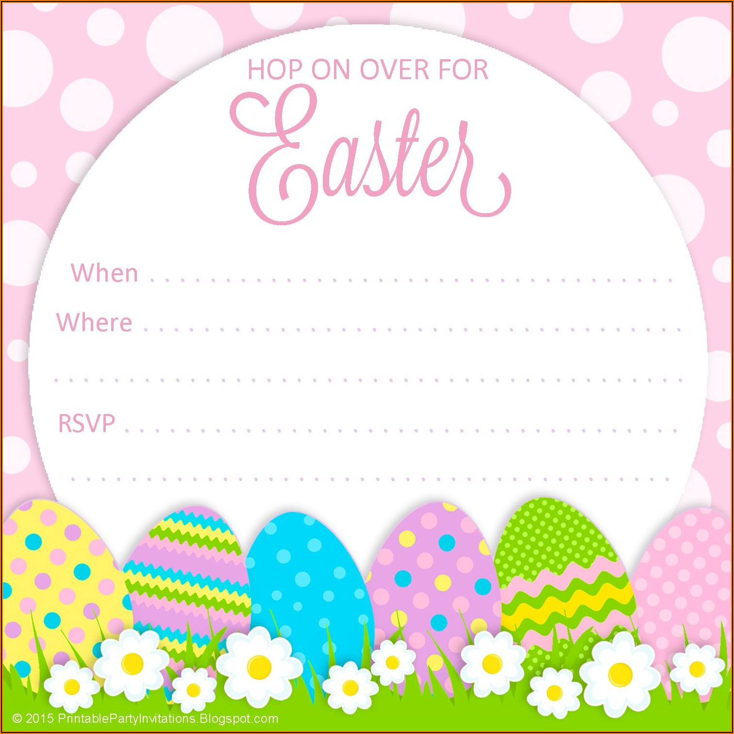 Easter Brunch Invitation Template Free