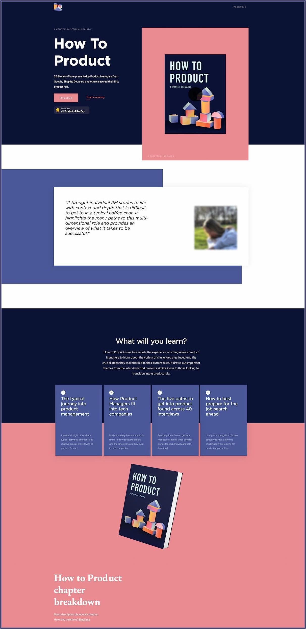 Ebook Landing Page Templates