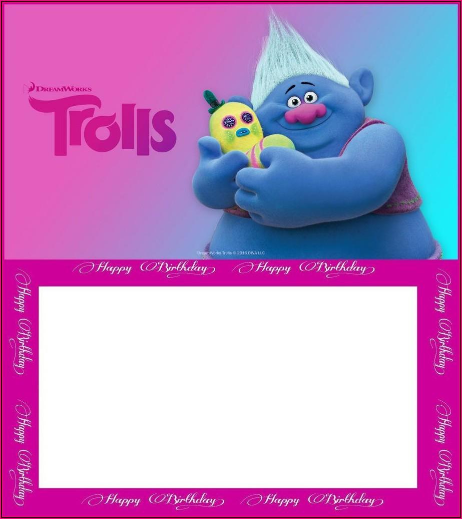 Editable Free Trolls Invitations Templates