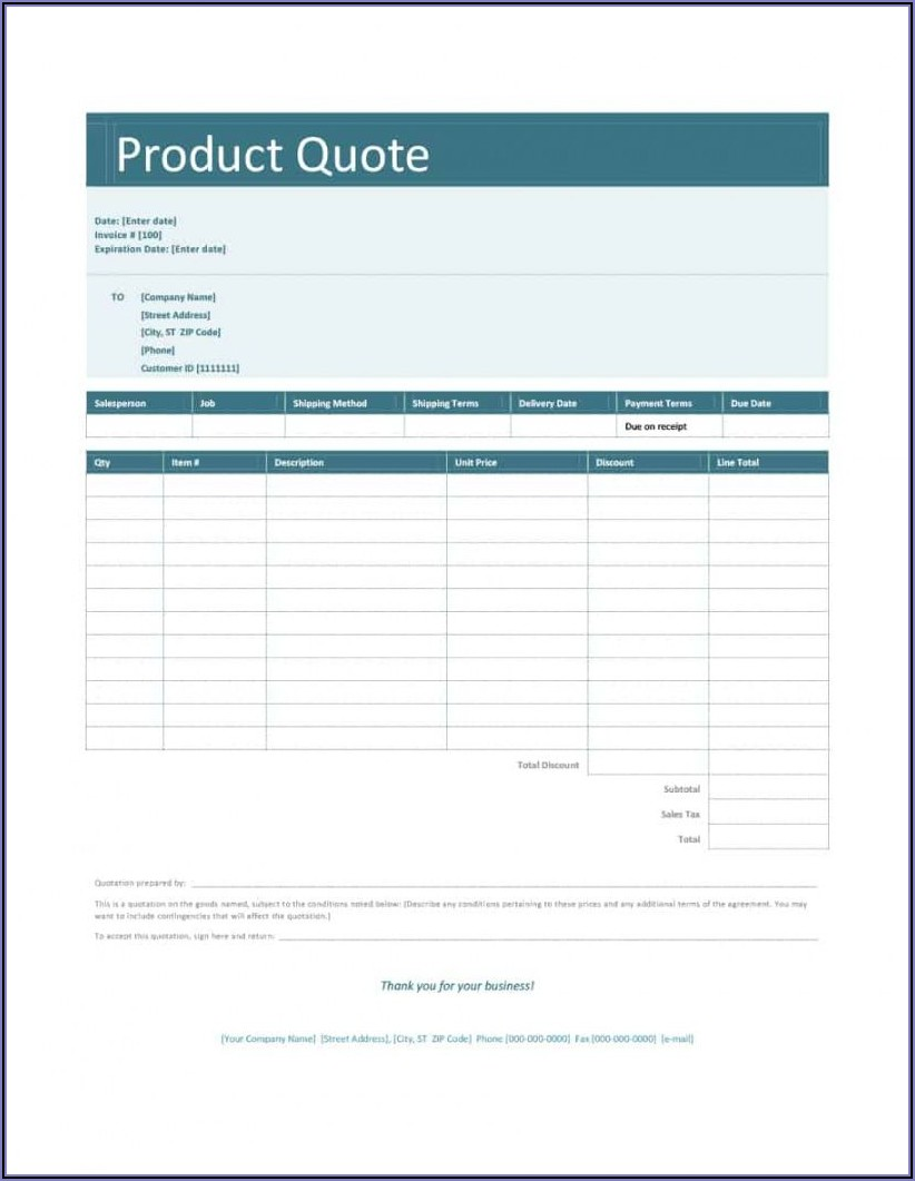 Electrical Quote Template