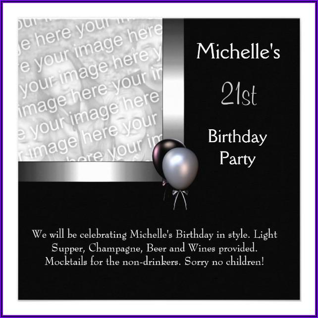 Elegant 21st Birthday Invitations