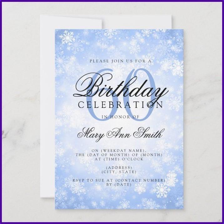 Elegant 60th Birthday Celebration Invitation