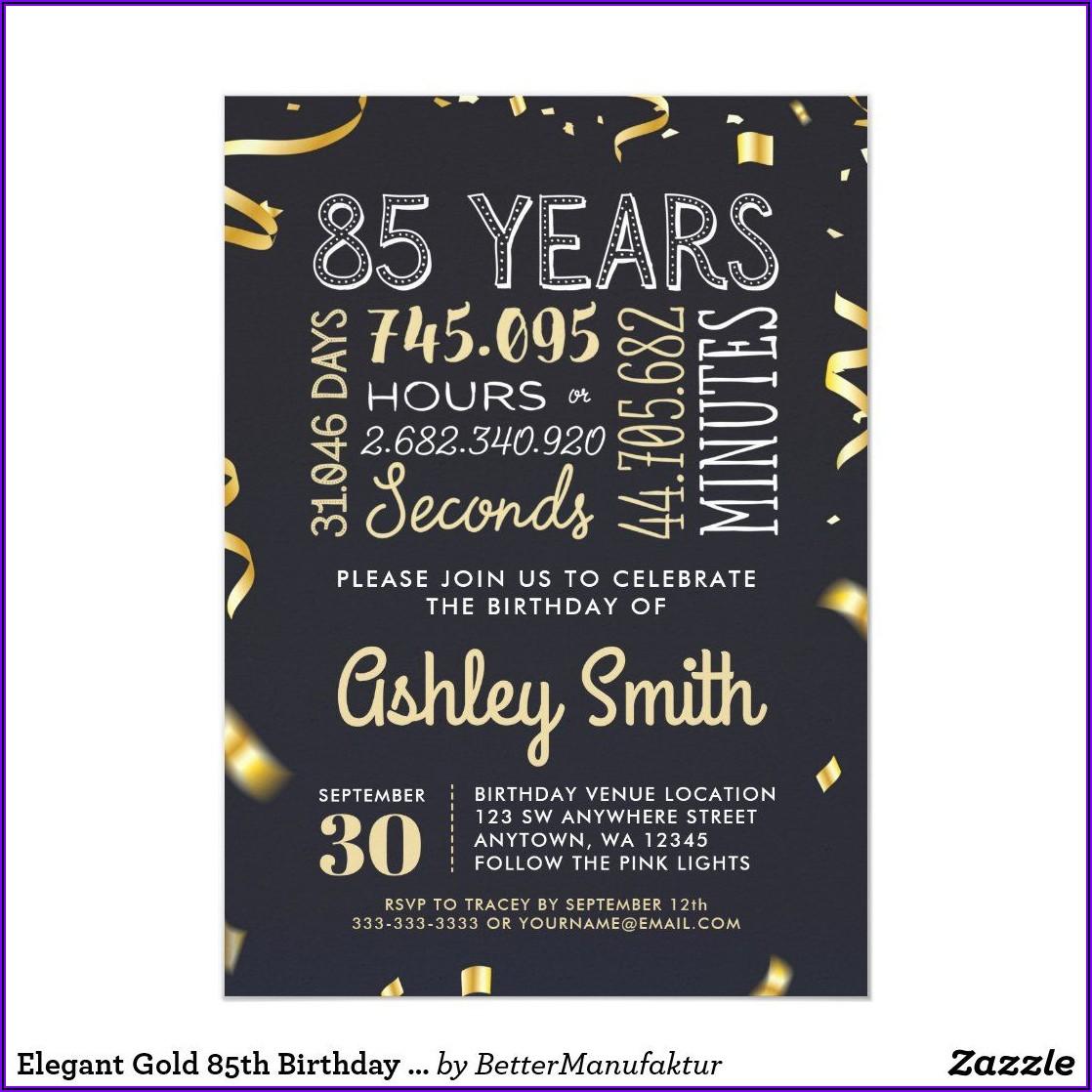 Elegant 90th Birthday Invitations