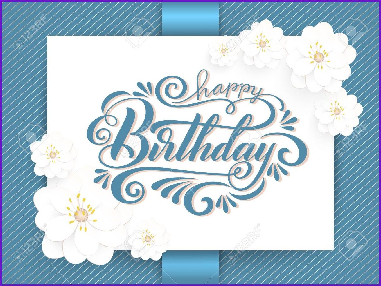 Elegant Birthday Invitation Background