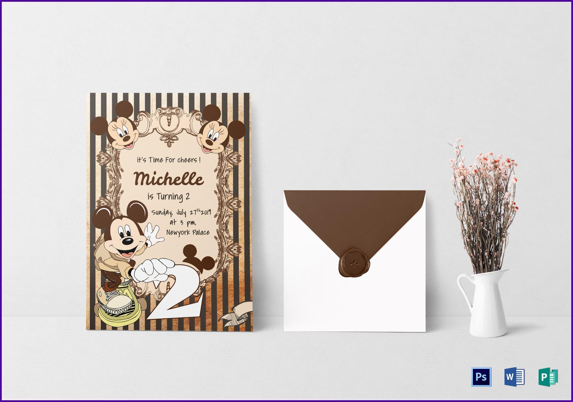 Elegant Birthday Invitation Card Design