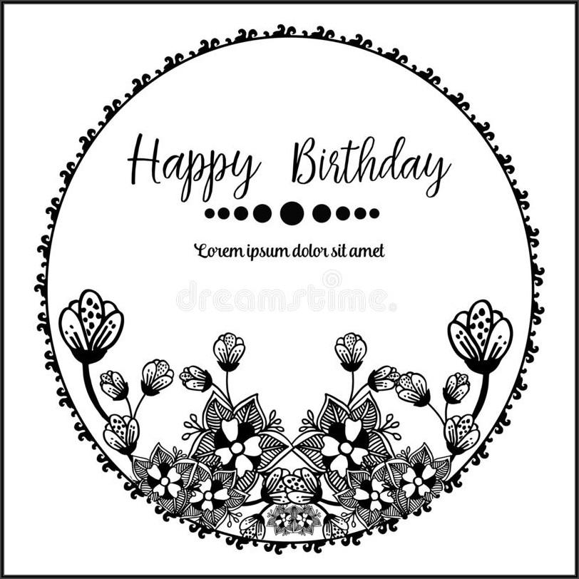 Elegant Birthday Invitation Card Vector