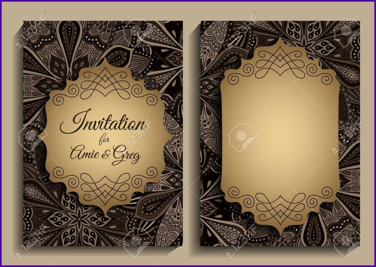 Elegant Blank Birthday Invitation Templates