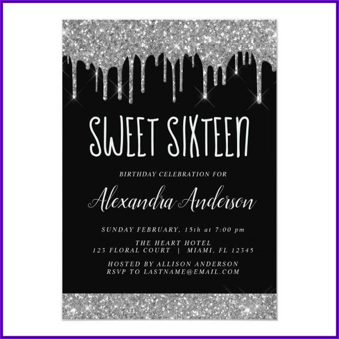 Elegant Sweet 16 Invitations