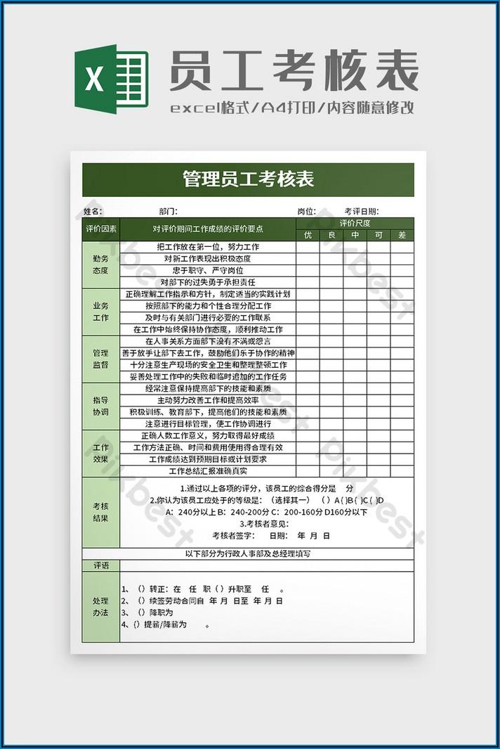 Employee Appraisal Template Excel