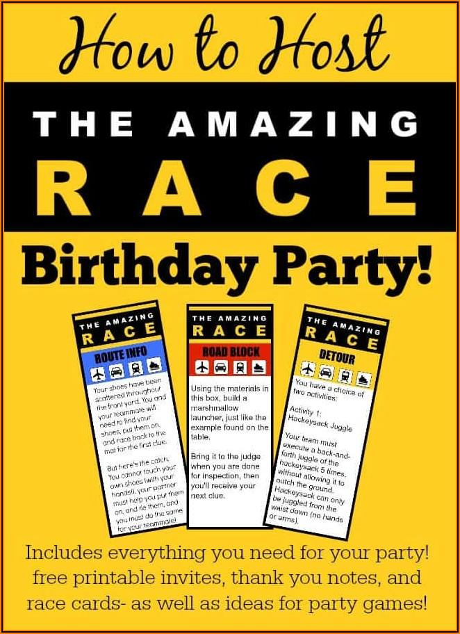 Escape Room Birthday Party Invitations Free