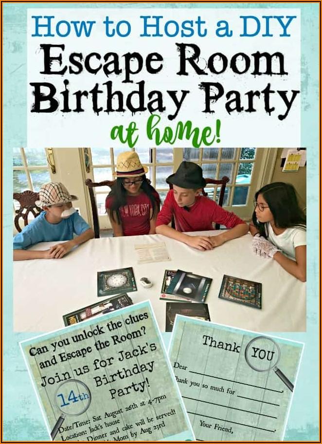 Escape Room Invite Template Free