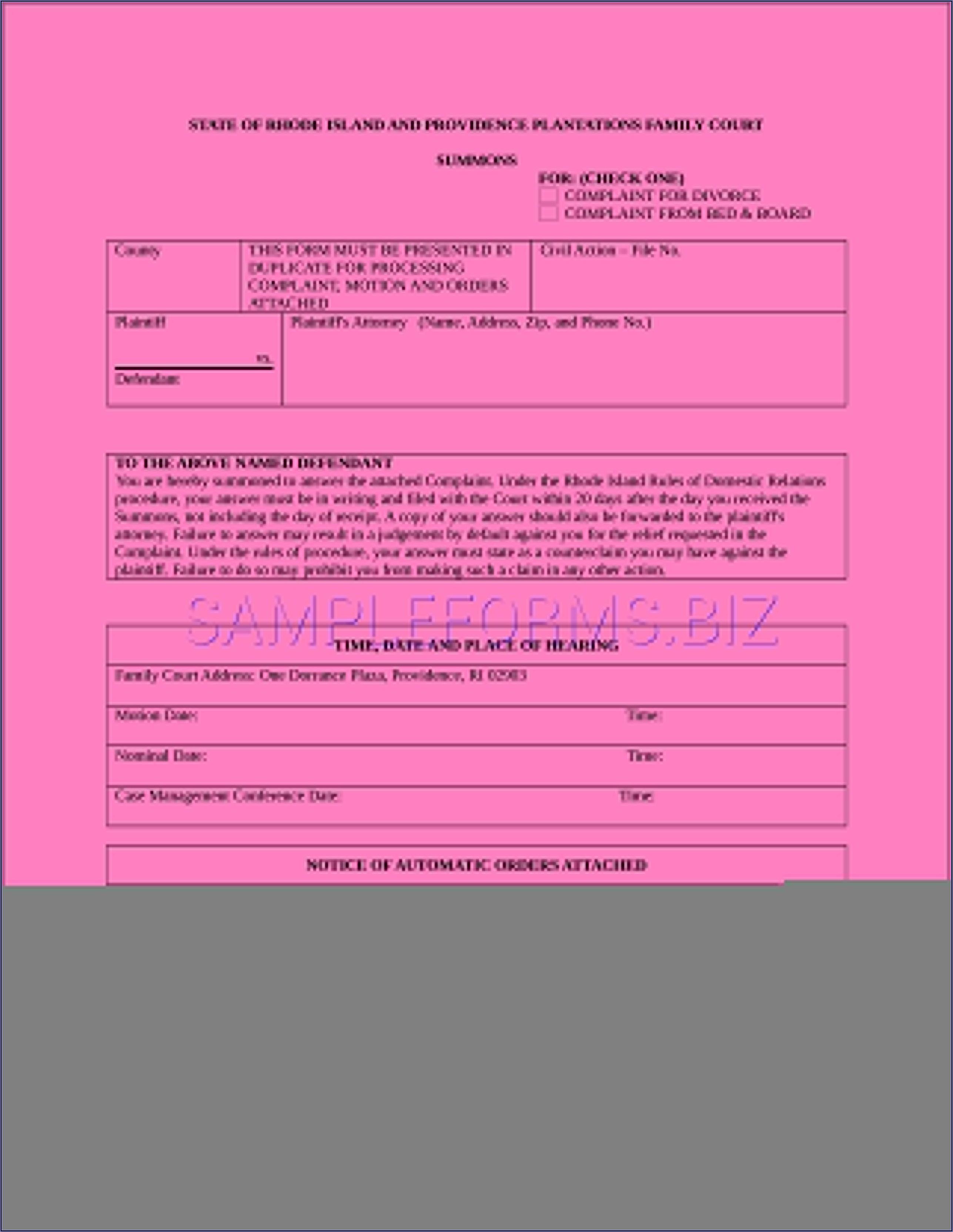 Family Court Affidavit Template Nz