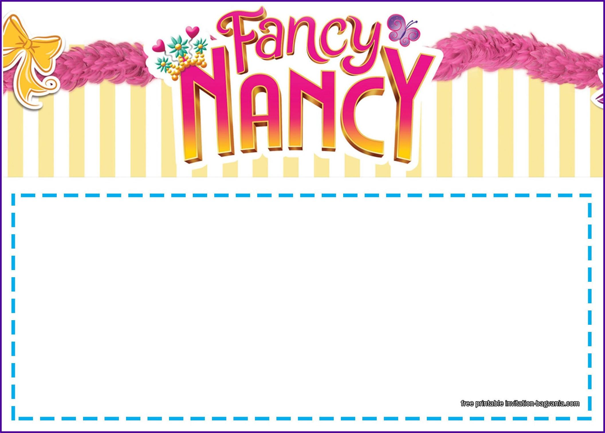 Fancy Birthday Invitations Templates