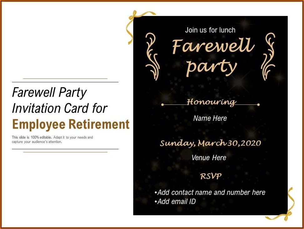Farewell Lunch Invitation For Coworker Sample