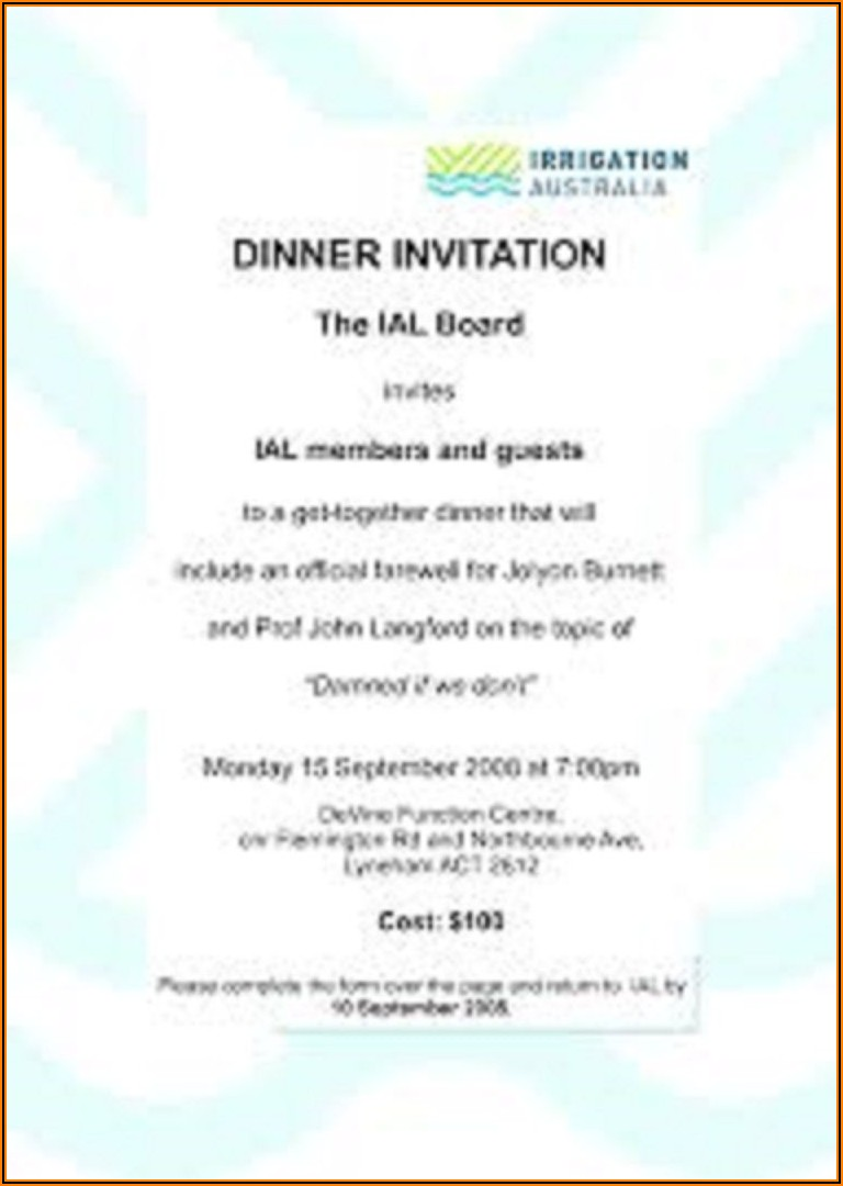 Farewell Lunch Invitation Message