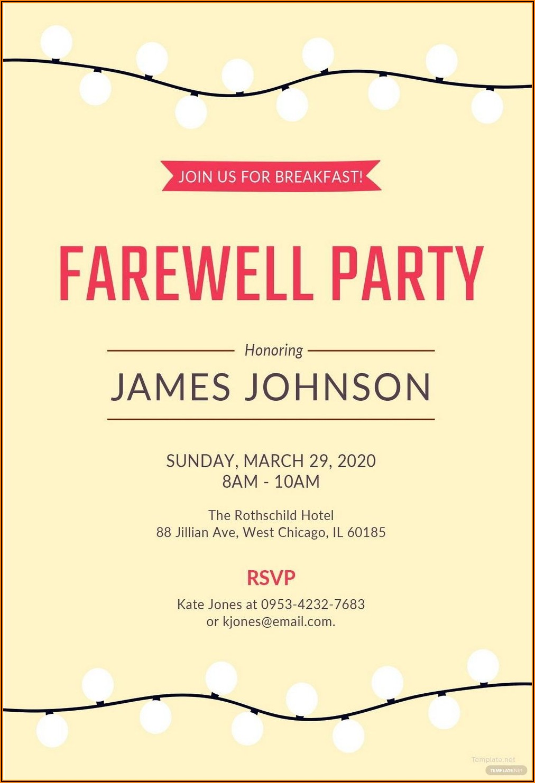 Farewell Luncheon Invitation Wording