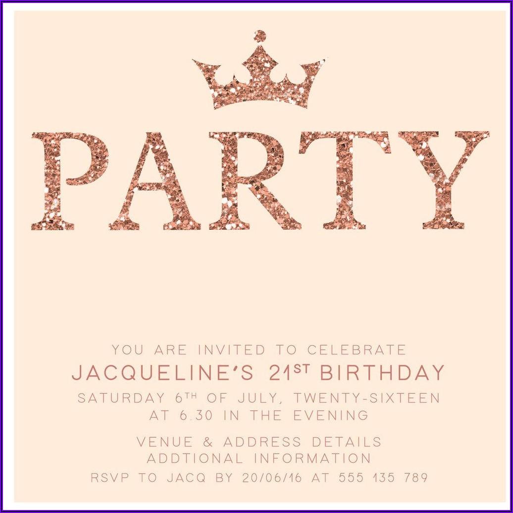 Female Classy 21st Birthday Invitations