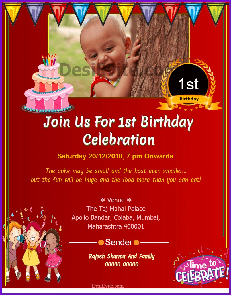 First Birthday Invitation Quotes In Tamil
