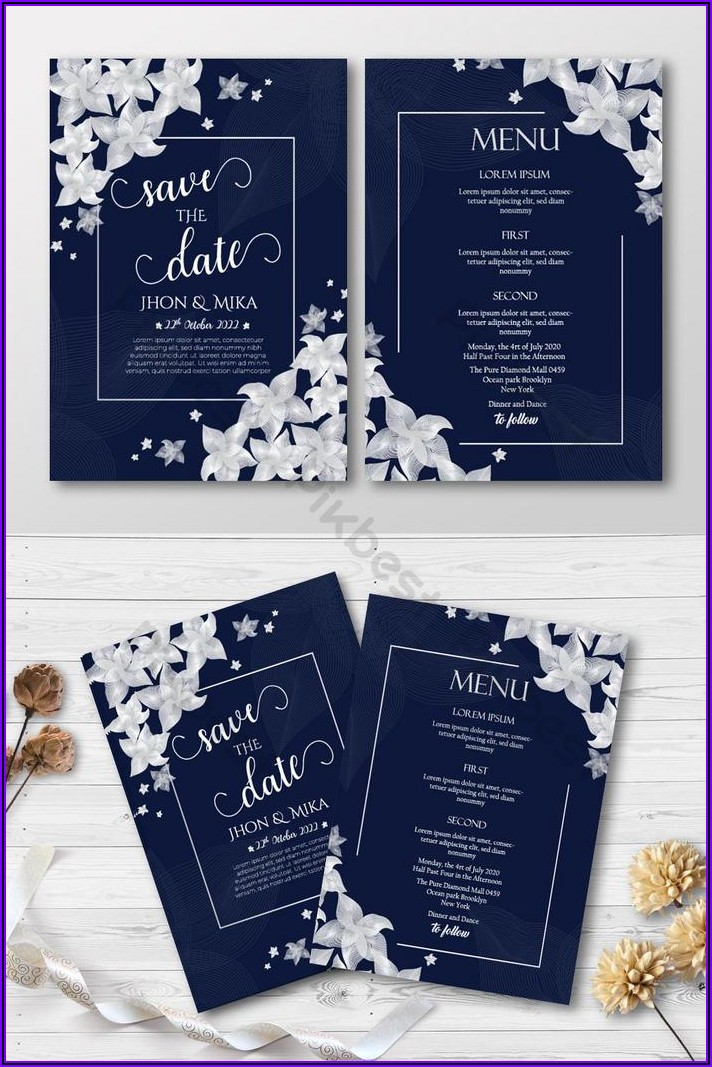 Floral Invitation Card Template Free Download