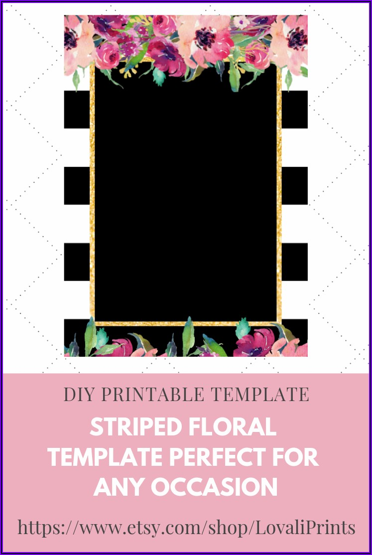 Floral Invitation Template Blank