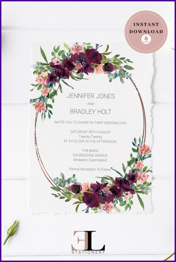 Floral Invitation Template Download